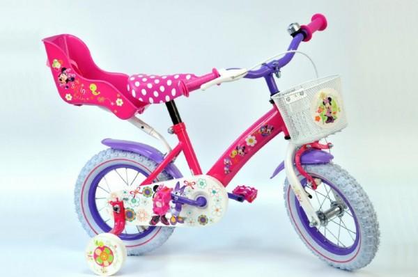 Dětské kolo Minnie Disney růžové s košíkem  0f9d8484cb