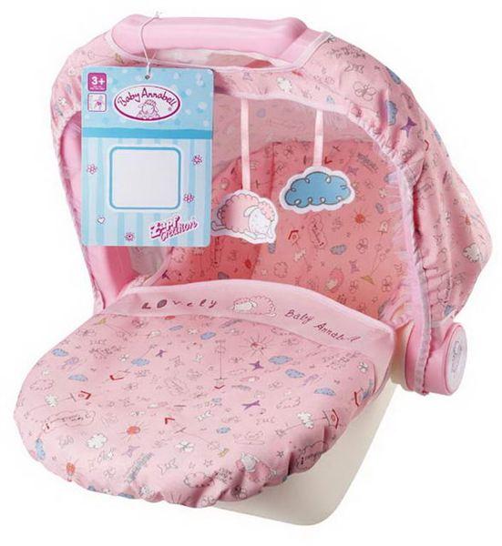 Moderní přenosná sedačka pro Baby Annabell se stří ...